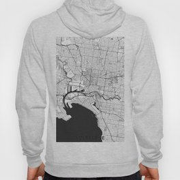 Melbourne City Map Gray Hoody