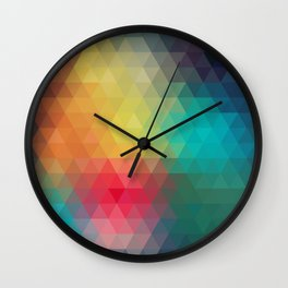 Abstract Geometric Pattern Wall Clock