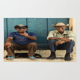 Two old Cuban men Rug