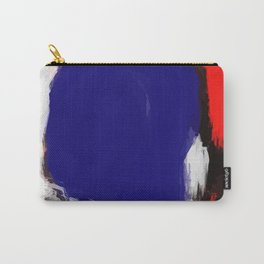 Abstract Blue White and Red Painting Minimalist Carry-All Pouch