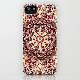 Beige Old Rose Mandala  Psychedelic Pattern iPhone Case