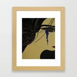 A Single Tear Framed Art Print