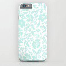 Stamp Floral Pattern Slim Case iPhone 6s