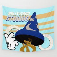 hollywood Wall Tapestries featuring mickey mouse hollywood studios by studiomarshallarts
