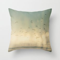 Where The Sky Meets The Sea  Throw Pillow