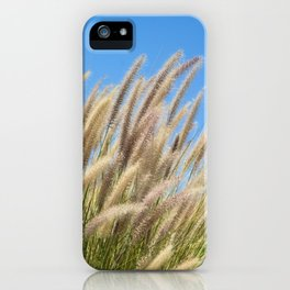 Foxtails on a Hill iPhone Case
