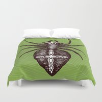 spider Duvet Covers featuring Spider by Bwiselizzy