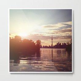toronto skyline on sunset Metal Print