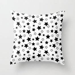 Stark Stars Throw Pillow