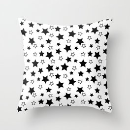 Stark Stars Throw Pillow