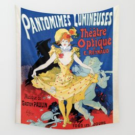 Vintage film history ad Jules Cheret Wall Tapestry