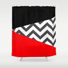 Color Blocked Chevron 10 Shower Curtain