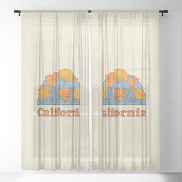 California Poppies Sheer Curtain
