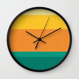 Five Shades of Sunset Wall Clock