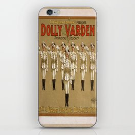 Vintage poster - Dolly Varden iPhone Skin
