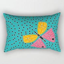 Butterfly with dots Rectangular Pillow