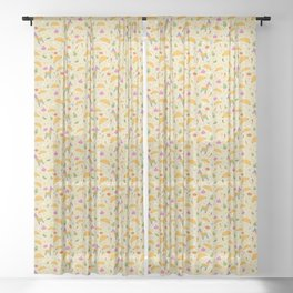 Taco Fiesta Sheer Curtain