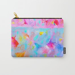 Modern Large Abstract Painting 20 by Bernard Teklic Carry-All Pouch