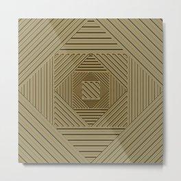 Golden Maze Metal Print