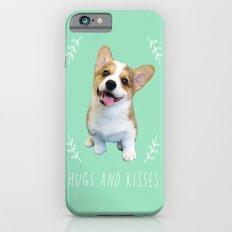 Geordi the corgi, hug and kiss Slim Case iPhone 6