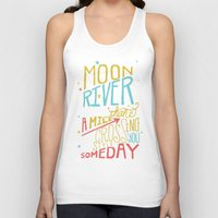 river song Tank Tops featuring MOON RIVER by Matthew Taylor Wilson