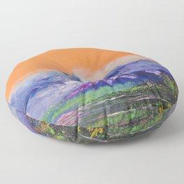 Mountains landscape. Diptych Floor Pillow