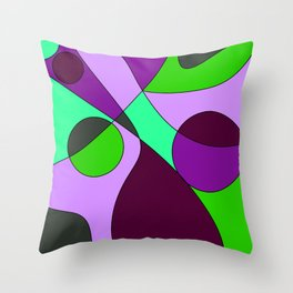 Abstract pattern Cuts Throw Pillow