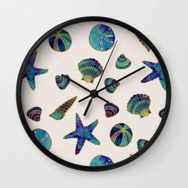 Beach Treasures - Aqua Wall Clock