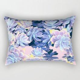 Cactus Fall - Blue and Pink Rectangular Pillow