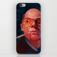 fear and loathing iPhone & iPod Skins featuring Fear & Loathing by RileyStark