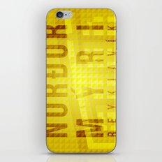 Nordurmyri Yellow iPhone & iPod Skin