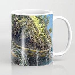Giant Turtle Island on a Beach Coffee Mug