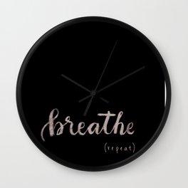 breathe (repeat) Wall Clock