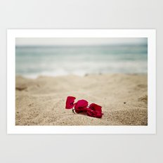 Beach Flowers Art Print