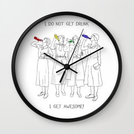 AWESOME GIRLS Wall Clock