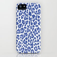 Blue Leopard Print iPhone (5, 5s) Slim Case