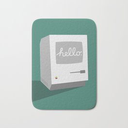 Hello Mac (Reimagined Apple Ad) Bath Mat