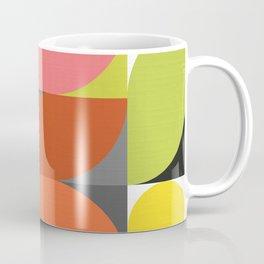 Mid Modern Geo Bloom on white  Coffee Mug