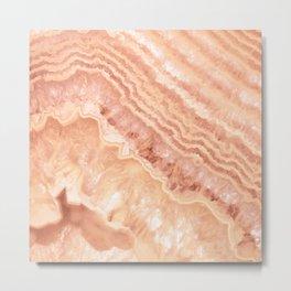 Champagne onyx marble Metal Print