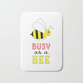 Busy as a Bee Bath Mat