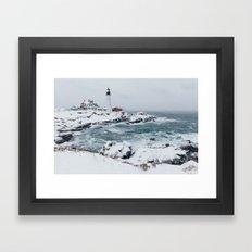 Cape Elizabeth Lighthouse, Maine Framed Art Print