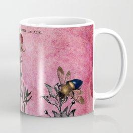 Vintage Bees with Toadflax Botanical illustration collage Coffee Mug