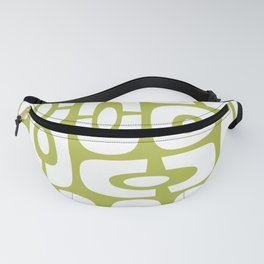 Mid Century Modern Cosmic Abstract 231 Olive Green Fanny Pack