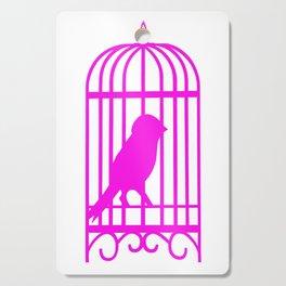 Pink Bird Cutting Board