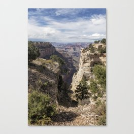 A Vertical View - Grand Canyon Canvas Print