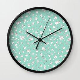 Balls on Blue Wall Clock