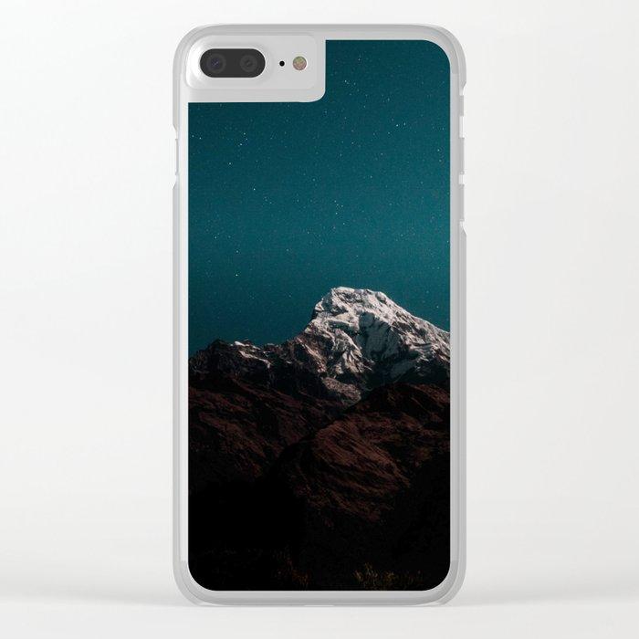 Dark Mountains #society6 #buyart Clear iPhone Case