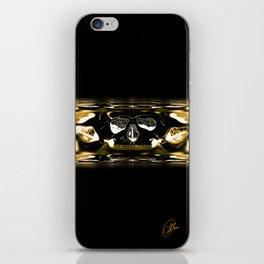 gold skull iPhone Skin