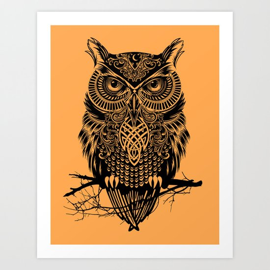 Warrior Owl 2 Art Print