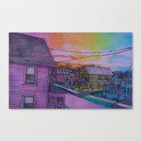 the neighbourhood Canvas Prints featuring neighbourhood by flower